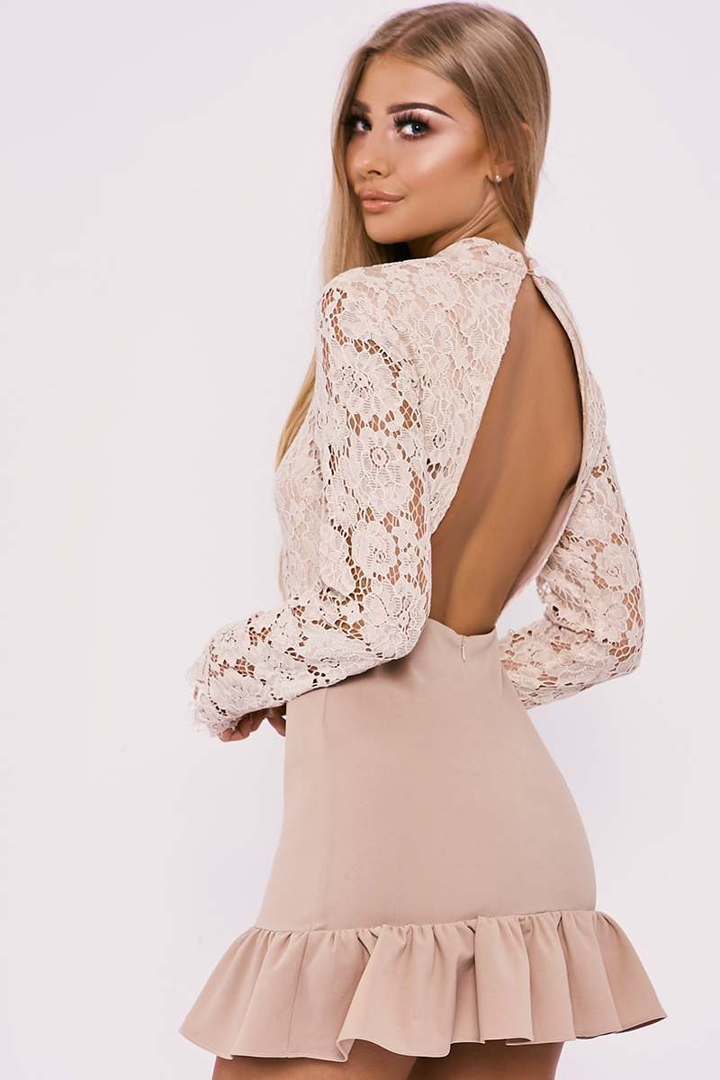 984d1433942 Find billie faiers bandage style frill hem dress . Shop every store ...