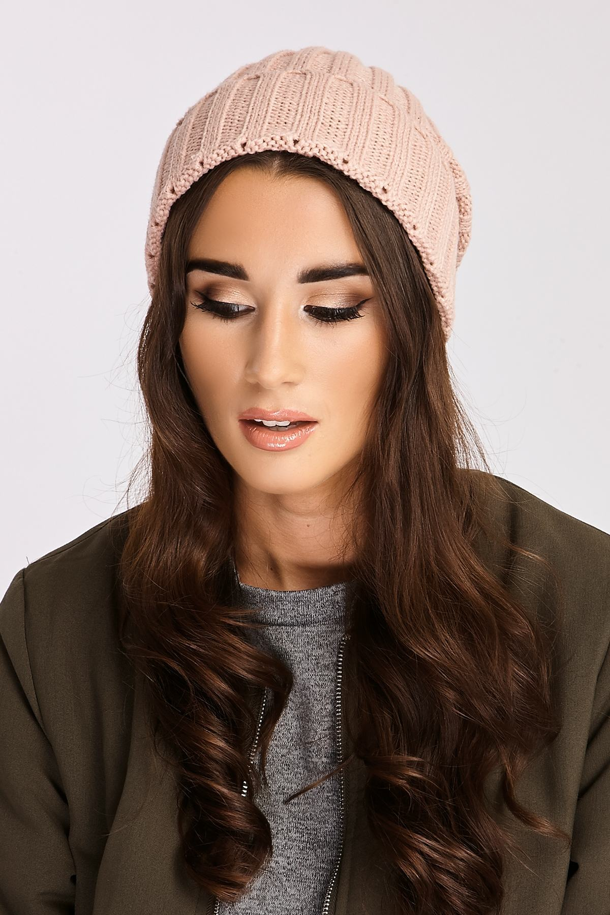 Rose Hats  Marah Rose Pink Knitted Beanie Hat
