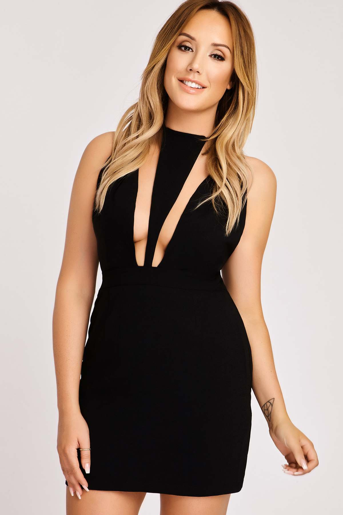 Black Dresses  Charlotte Crosby Black Harness Bodycon Dress