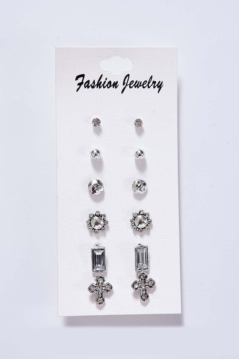 Silver Packs  Effy Silver Cross Stud Earring Multi Pack