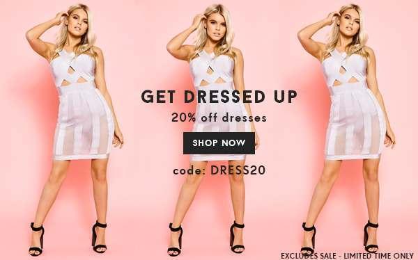 20% off Dresses Code: DRESS20