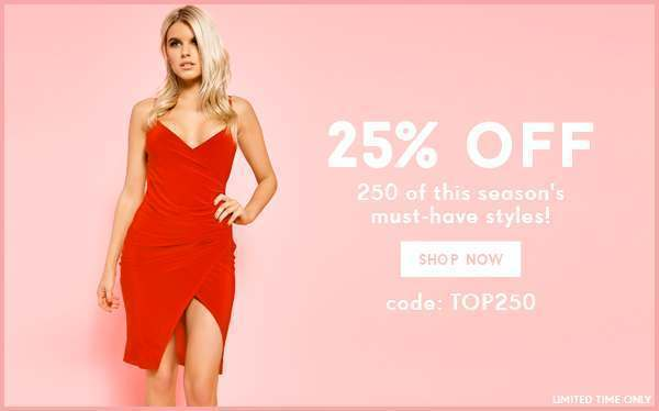 25% off 250 products Code: TOP250