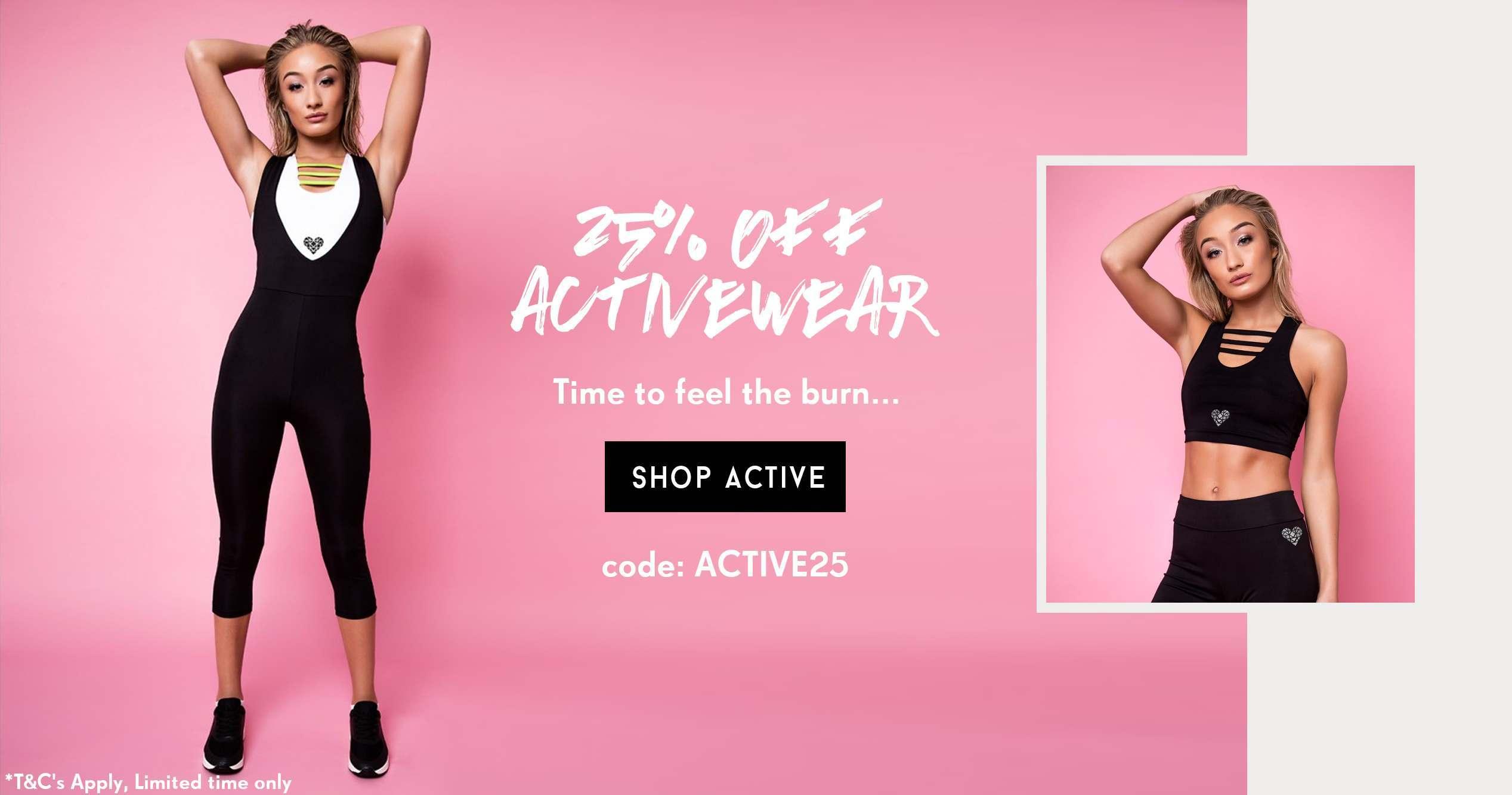 25% off activewear
