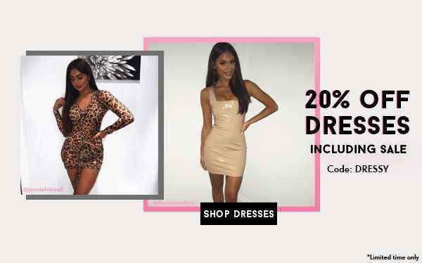 20% OFF DRESSES 19/9
